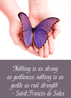 Nothing is as strong as gentleness, nothing is as gentle as real strength