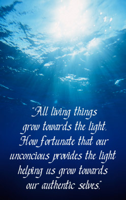 All living things grow towards the light. How fortunate that our unconscious provides the light helping us grow towards our authentic selves.